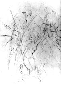 Blake: Two Angels Descending, Vala / The Four Zoas (1822)