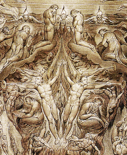 William Blake: A Vision of The Last Judgement (detail)