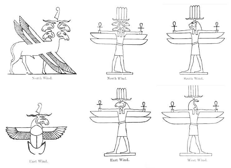 Egyptian Wind Gods